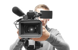 Video camera operator Royalty Free Stock Photography