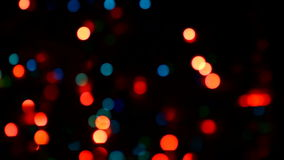 Video of Christmas lights stock footage