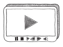 Video player doodle Royalty Free Stock Photo