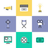 Video production pictogram icons set Royalty Free Stock Images