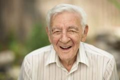 Vieil homme heureux Image stock