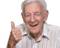 Vieil homme heureux Photographie stock