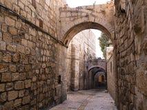 Vieille ruelle de ville de l'Israël - de Jérusalem Photographie stock