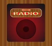 vieux transistor par radio Images stock