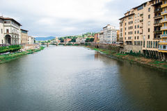 View of Arno river Florence Stock Photography