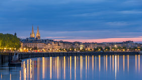 View on Bordeaux in the evening Royalty Free Stock Image
