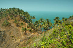 View from Cabo De Rama Fort. Goa, India Royalty Free Stock Photos