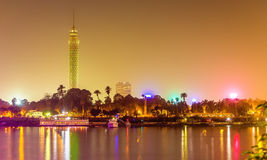 View of the Cairo tower in the evening Stock Photography