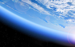 View of Earth from space Stock Photos