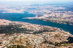 View over Lisbon - aerial view Royalty Free Stock Images