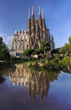 View of Sagrada Familia cathedral in Barcelona in Spain Stock Photo