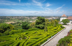 View from Seteais Palace / Palácio de Seteais in Sintra, Portugal. Royalty Free Stock Photo
