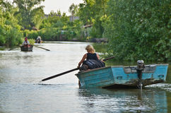 VILKOVO, UKRAINE - May 19: Danube delta. Royalty Free Stock Photography