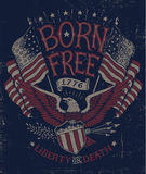 Vintage Americana Eagle Graphic Royalty Free Stock Image