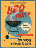 Vintage BBQ Grill Party Stock Photo