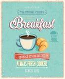 Vintage Breakfast Poster. Royalty Free Stock Photos