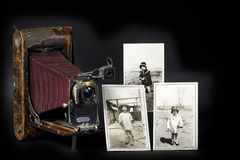 Vintage Camera & Photos Royalty Free Stock Images