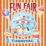 Vintage carnival poster template Royalty Free Stock Image