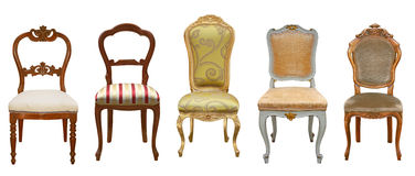 Vintage chairs isolated Royalty Free Stock Photography