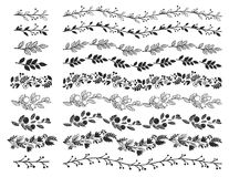 Vintage decorative borders. Hand drawn vector design elements Royalty Free Stock Images
