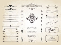 Vintage Decorative Ornament Borders and Page Dividers Royalty Free Stock Photography