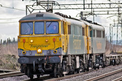 Vintage electric freight locomotives Royalty Free Stock Image