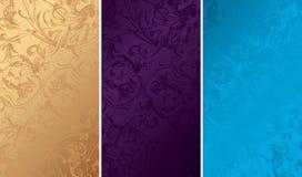 Vintage Floral Background Textures Stock Images