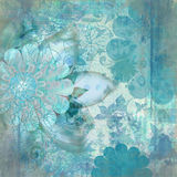 Vintage Floral Grunge Bohemian Tapestry Scrapbook Background Stock Photography