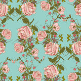 Vintage floral seamless color pattern Royalty Free Stock Image