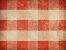 Vintage gingham tablecloth background Stock Images