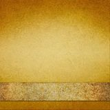 Vintage gold background with brown gold ribbon Stock Photo