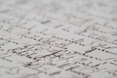 Vintage handwriting Royalty Free Stock Photography