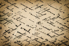 Vintage handwriting. antique script. paper background Royalty Free Stock Photo