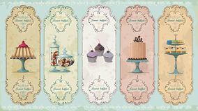 Vintage labels with sweets Royalty Free Stock Image