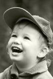 Vintage laughing kid Stock Photo