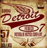 Vintage man t shirt graphic design about detroit Stock Images