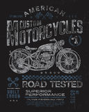 Vintage Motorcycle T-shirt Graphic Royalty Free Stock Photos