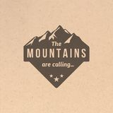 Vintage mountain label Royalty Free Stock Photography