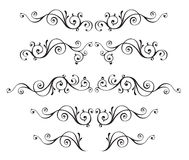 Vintage ornamental vector frames set isolated on white Royalty Free Stock Photography