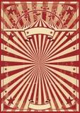 Vintage red sunbeams Stock Images