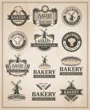 Vintage Retro Bakery Label Set Stock Photos