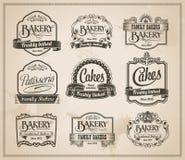 Vintage Retro Bakery Label Set Stock Images