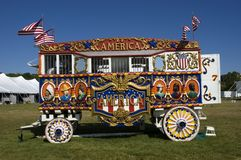 Vintage Steam Calliope and Circus Wagon Royalty Free Stock Photography