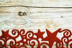 Vintage style decorative Christmas star border Stock Photo