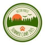 Vintage summer camp sticker Stock Photography