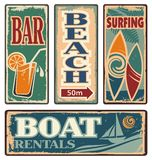 Vintage summer holiday signs Royalty Free Stock Photo