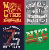 Vintage T-shirt Graphic Set 2 Royalty Free Stock Images