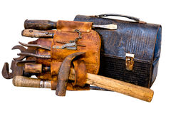 Vintage Tools, Tool Belt, and Lunch Box Stock Images