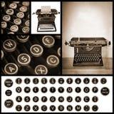 Vintage Typewriter Image Collection Stock Image