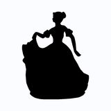 Vintage victorian lady silhouette Royalty Free Stock Image